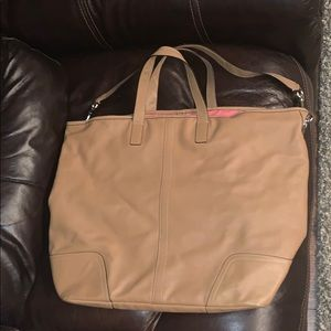 Coach large tote bag with matching clutch!